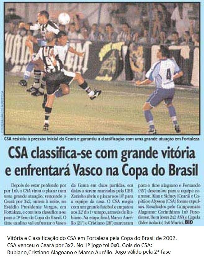 Ceará 2x3 CSA - Copa do Brasil 2002