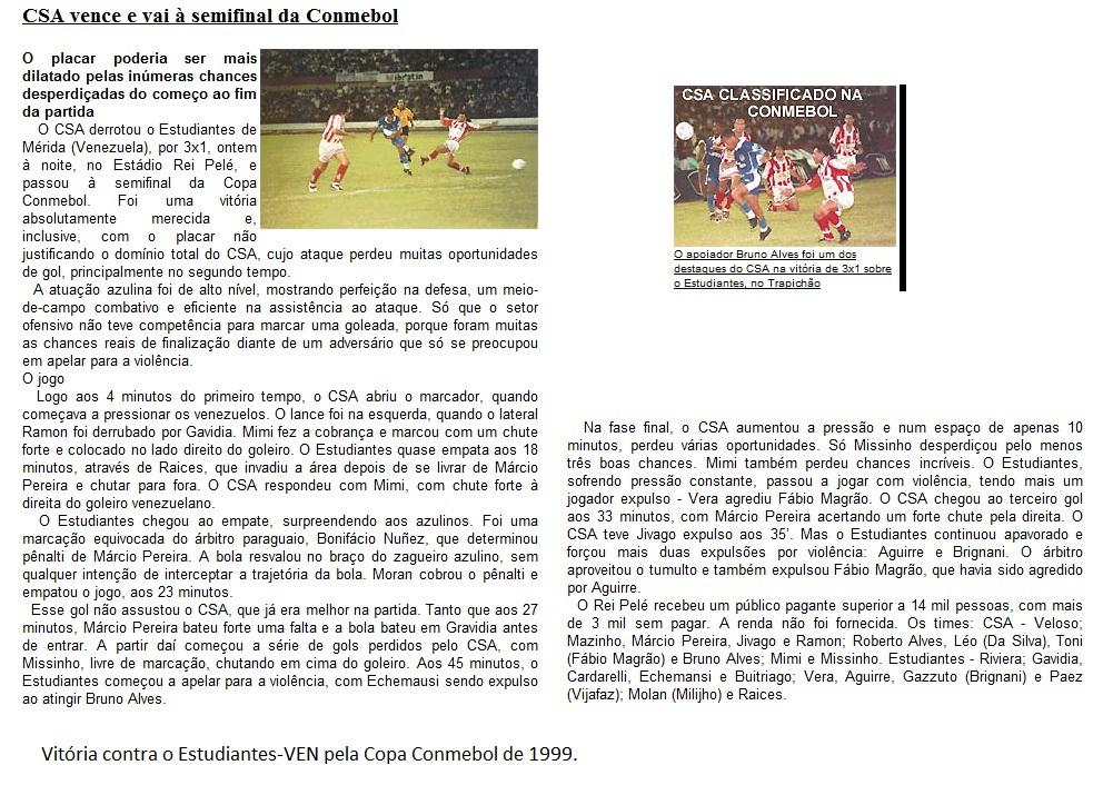 CSA 3x1 Estudiantes-VEN 1999