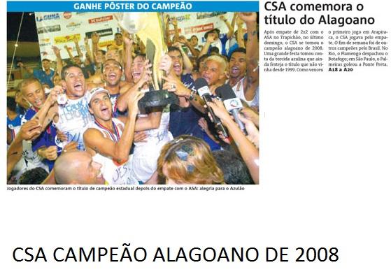 CSA campeão alagoano de 2008