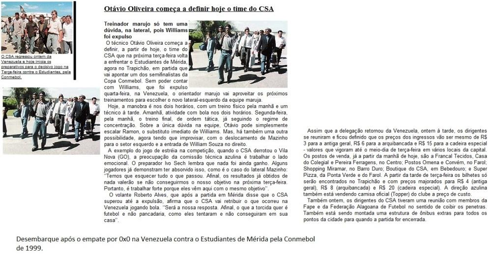 Desembarque- Estudiantes-VEN 0x0 CSA - 1999