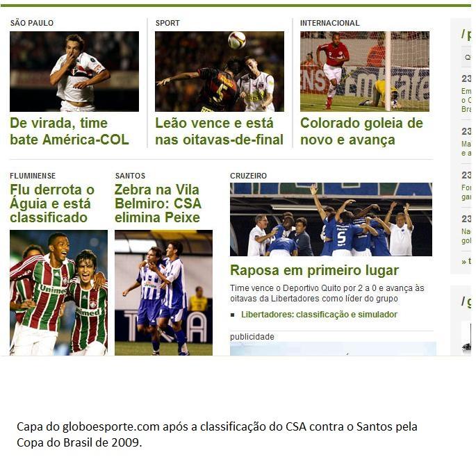 Santos 0x1 CSA - Copa do Brasil 2009