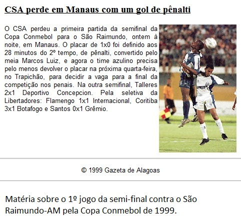 São Raimundo-AM 1x0 CSA - 1999