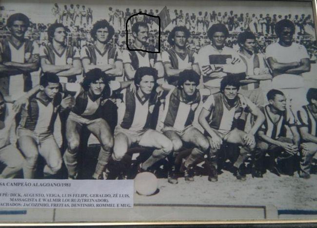 Felipão no time campeão alagoano de 1981
