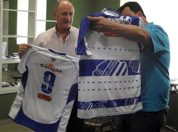 Felipão com o atual presidente do CSA,Jorge Sexto.